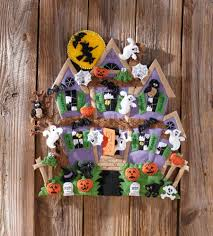 bucilla haunted house wall hanging felt applique kit