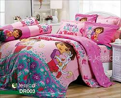 dora the explorer official licensed bedding set bed sheet pillow
