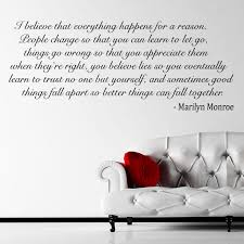 Wall Quotes For Living Room by Living Room Wall Sticker Marilyn Monroe Quote Decal A Smile Is The