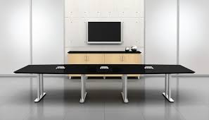 Black Meeting Table Black Chrome Conference Table Ambience Doré