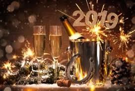 Happy New Year 2019 Champagne Background Vinyl Celebration Party