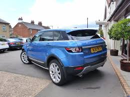 range rover evoque blue used land rover range rover evoque hatchback 2 2 sd4 prestige