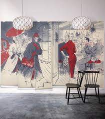 geishas garden wall mural from the erstwhile collection by milton in vogue wall mural from the erstwhile collection by milton king