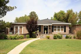 marvelous ranch house curb appeal with dark brown door along with