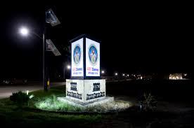 solar cing lights illuminated signs with solar lights for advertising and marketing