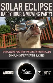 solar eclipse happy hour u0026 viewing party in st louis at frazer u0027s
