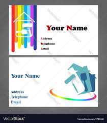 wordings business cards for a painter in conjunction with