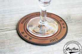 personalized logo coasters personalized leather goods craftive