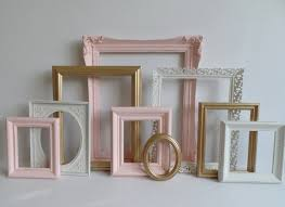 ornate shabby chic picture frames collection set of 9 vintage