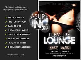 pleasure lounge free club flyer template