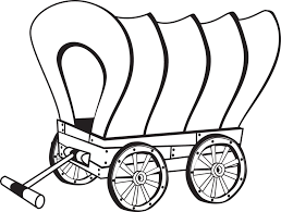 covered wagon coloring page western wagon coloring page free
