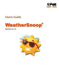 weathersnoop users guide port computer networking file