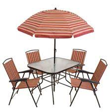 Folding Patio Set With Umbrella Mainstays Glenmeadow 6 Piece Folding Patio Dining Set With