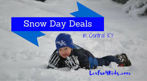 Kentucky travel deals images Snow day deals 2017 lexfun4kids png