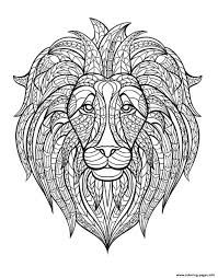 lion head coloring pages printable