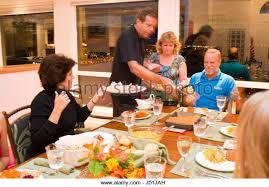 usa thanksgiving family meal stock photos usa thanksgiving