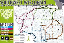Wisconsin Snowmobile Trail Map by Motorcycle Routes And Map U2014 Grant County Wi
