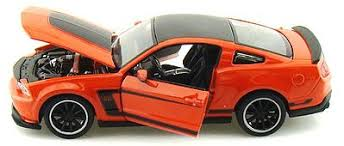 maisto ford mustang ford mustang 302 orange diecast model car 1 24 scale