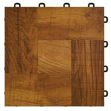 interlocking floor tiles wood made in usa