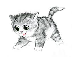 imagenes a lapiz de gatos ejemplo del lápiz de un gato stock de ilustración ilustración de