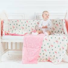 Crib Bedding Pattern Aliexpress Buy Baby Bedding Set Flamingo Pattern Crib Kit