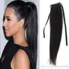 ponytail extension 7a human hair ponytail wig black 100 remy ponytail human