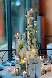 water centerpieces silver table centerpieces water wedding centerpiece ideas