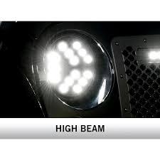 stock jeep headlights putco 12017 jeep wrangler jk headlight luminix led high power