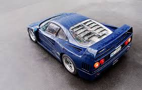 blue f40 of the day f40 pozzi blue crankandpiston com
