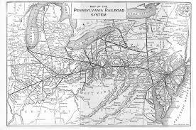 Map Of Western Pa Pennsylvania Railroad System 1909 Map Rail Usa Interesting