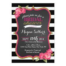 wedding invitations black and white pink gold black white bridal shower invitation zazzle