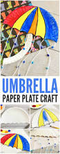 umbrella paper plate craft weather crafts for kids easy peasy
