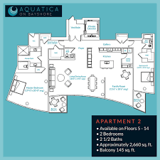 Plan Apartment by Aquatica On Bayshore Luxury Is Only The Beginning