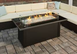 furniture coffee table fire pit ideas black rectangle modern