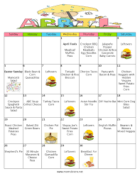 thanksgiving grocery list a month of meals on a budget april 2015 meal plan 30 days of