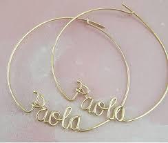 Custom Name Earrings Hoop Earrings With Custom Names Personalized Name Jewelry