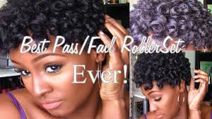 black rod hairstyles for 2015 best pass fail roller rod set ever 4b natural hair twa no heat
