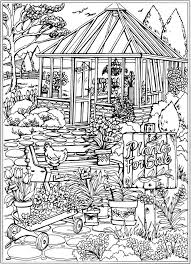 nature scene coloring pages 1320 best creative haven coloring pages by dover images on