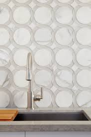 Ann Sacks Kitchen Backsplash by Liberty Glass And Stone Mosaic Tile In Rockefeller Circle Pattern