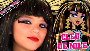 monster high halloween dolls cleo de nile monster high doll costume makeup tutorial for
