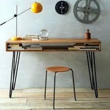 Modern Wood Desk Metal And Wood Desk Sgmun Club