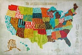 modern bedrooms ideas oil painting american style us map wall art