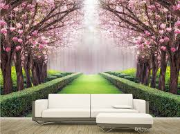 3d halloween wallpaper luxury european modern beautiful scenery flowers and trees mural