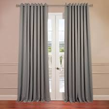 neutral grey grommet extra wide blackout curtains