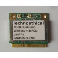 technoethical n300 dual band wireless minipcie card for gnu linux