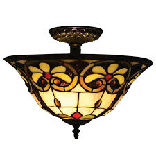 Glass Ceiling Light Fixtures Semi Flushmount Lights Lighting The Home Depot