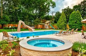 Pool Backyard Design Ideas Triyae Com U003d Backyard Designs With Pool And Hot Tub Various