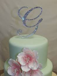 k cake topper 5 initial monogram wedding cake topper swarovski