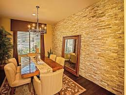 Accent Wall Ideas Stone This Stone Dining Room Accent Wall - Dining room accent wall