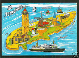 netherlands lighthouse map map postcard terschelling lighthouse friesland netherlands st